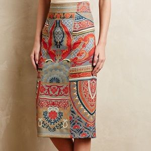 Anthropologie Pankaj + Nidhi Capivara Pencil Skirt